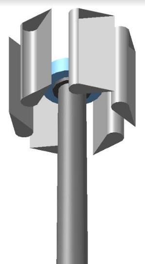Szélgenerátor oszlopok